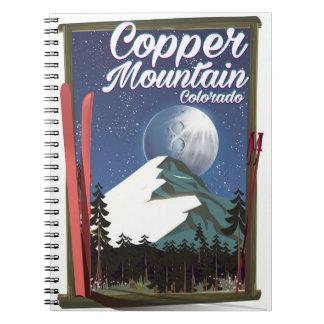 Colorado travel poster Copper Mountain Spiral Notebook