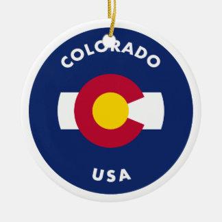 Colorado USA Ceramic Ornament