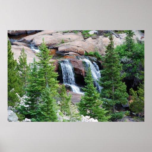 Colorado waterfall poster