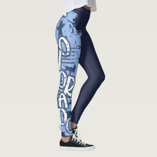 Colorado wild animal letter leg leggings