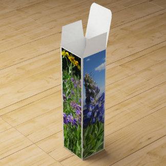 Colorado Wildflowers Wine Bottle Gift Box Wine Gift Box