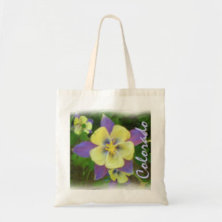 Colorado yellow columbine bag
