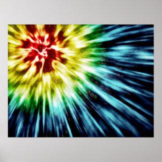 Colorant foncé abstrait de cravate posters
