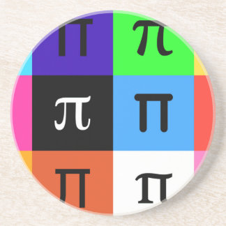 colorblock happy pi day coaster