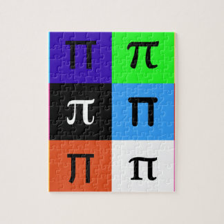 colorblock happy pi day jigsaw puzzle