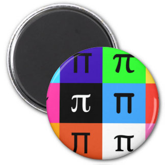 colorblock happy pi day magnet