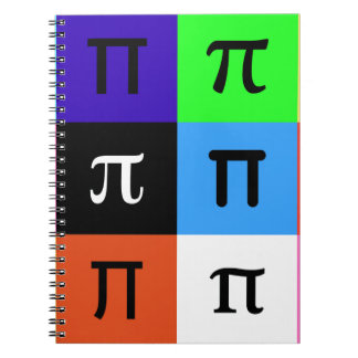colorblock happy pi day notebook