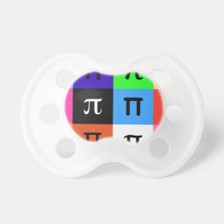 colorblock happy pi day pacifier