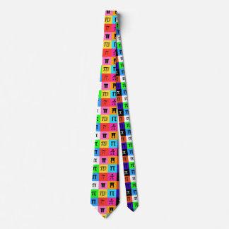 colorblock happy pi day tie