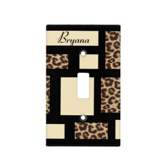 Colorblock Leopard Cheetah Light Switch Cover