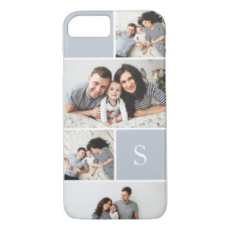 Colorblock Photo Collage & Monogram iPhone 8/7 Case