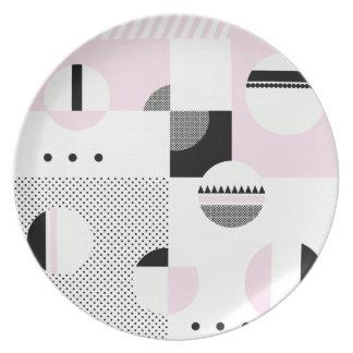 #ColorBlocks Pink & White Dinner Plates