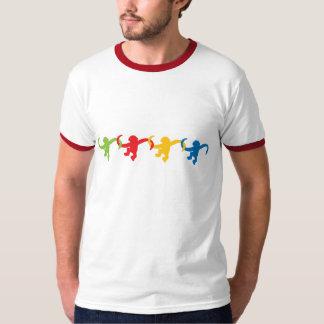 Coloré - baril complètement de singes t shirt