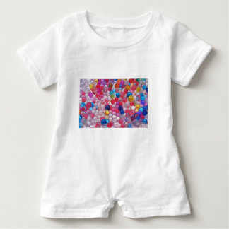 colore jelly balls texture baby romper