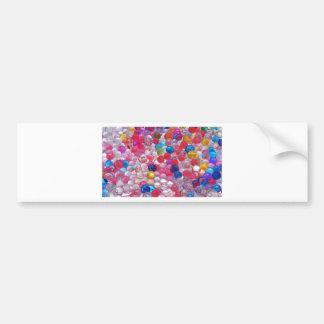 colore jelly balls texture bumper sticker