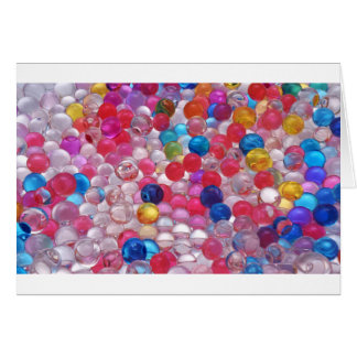 colore jelly balls texture card