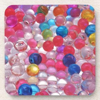 colore jelly balls texture coaster
