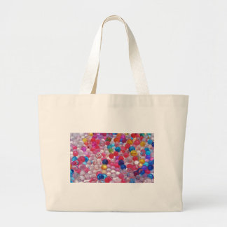 colore jelly balls texture large tote bag