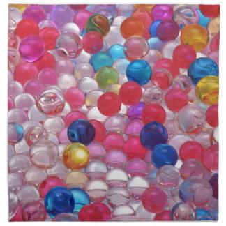 colore jelly balls texture napkin