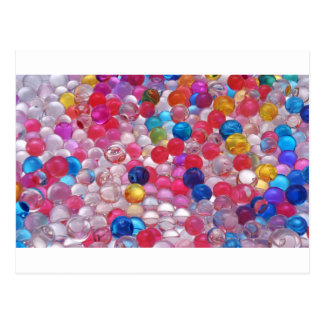 colore jelly balls texture postcard