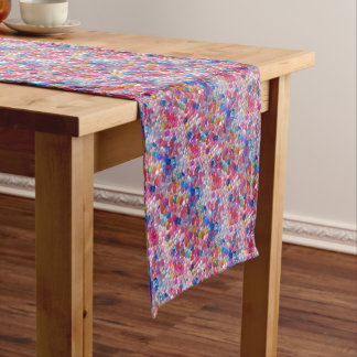 colore jelly balls texture short table runner
