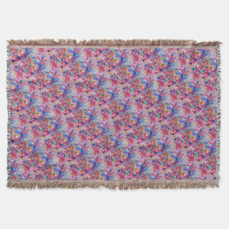 colore jelly balls texture throw blanket