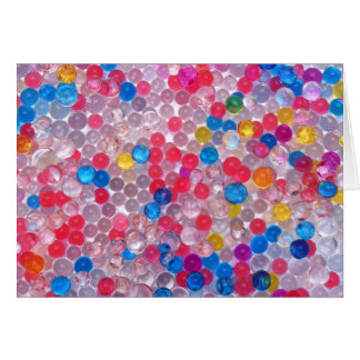 colore water balls card