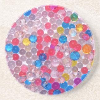 colore water balls coaster