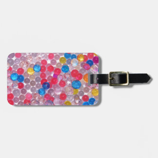 colore water balls luggage tag