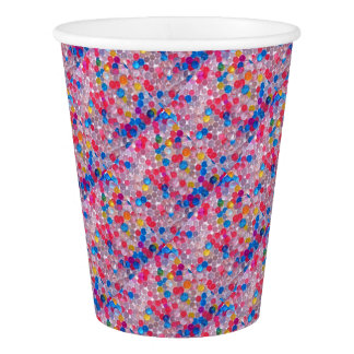 colore water balls paper cup