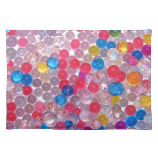 colore water balls placemat