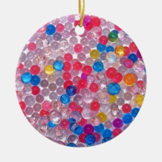 colore water balls round ceramic ornament