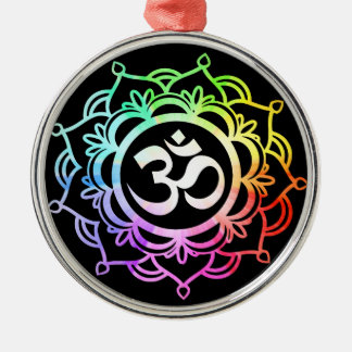 Colored 17 Meditation Metal Ornament