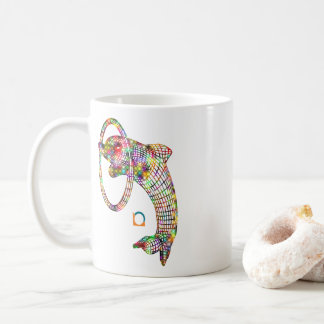 Colored 3D Dolphin Coffee Mug