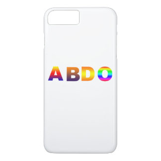 colored  A  B  D  O  iphone 7 plus limited edition iPhone 8 Plus/7 Plus Case