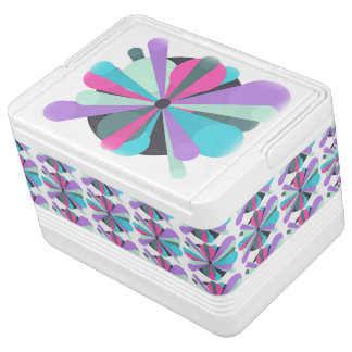 Colored abstract igloo can cooler
