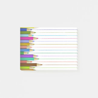 Colored Art Pencil Post It Back To School Custom Post-it Notes