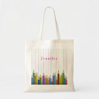 Colored Art Pencils Custom Book Bag Back To School