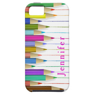 Colored Art Pencils Custom Case Back To School