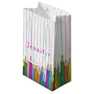 Colored Art Pencils Custom Gift Bag Back To School
