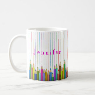 Colored Art Pencils Custom Mug Back To School