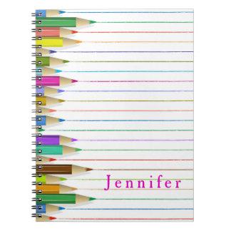 Colored Art Pencils Custom Notebook Back To School
