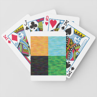 colored background bicycle playing cards