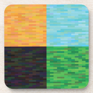 colored background coaster