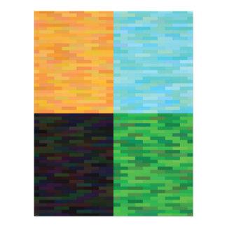 colored background letterhead