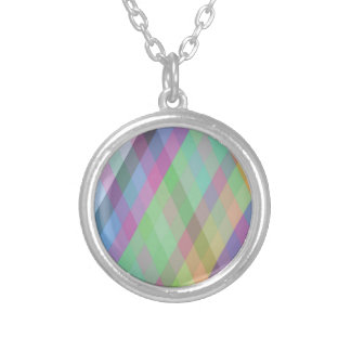 colored background silver plated necklace