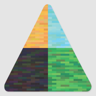 colored background triangle sticker