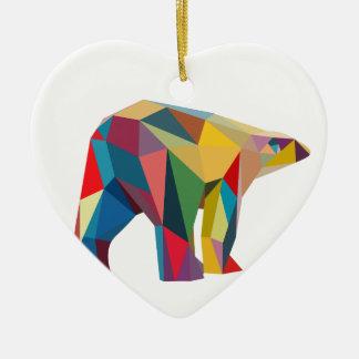 Colored Bear Ceramic Ornament
