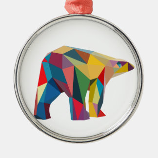 Colored Bear Metal Ornament