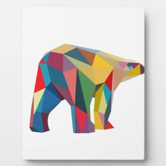 Colored Bear Plaque